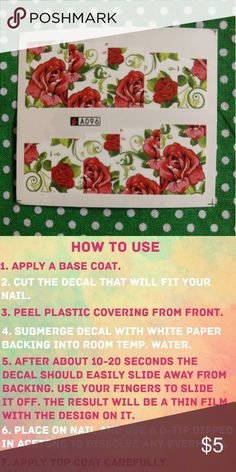 Drawn red rose base Vines Save Decals green