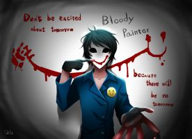 Drawn red rose bloody painter CreepyPasta: by Painter on DeviantArt