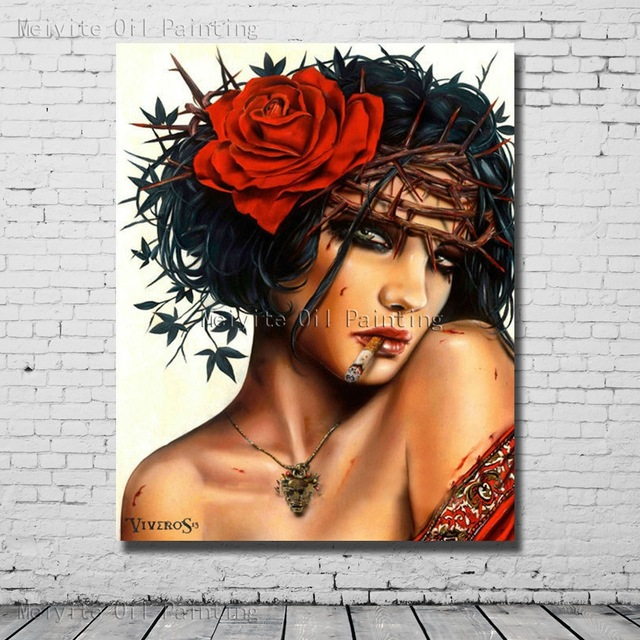 Drawn red rose bloody painter  Red Oil Gothic Oil