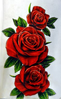 Drawn red rose bunch Inspiration on tattoo roses karlinoboy