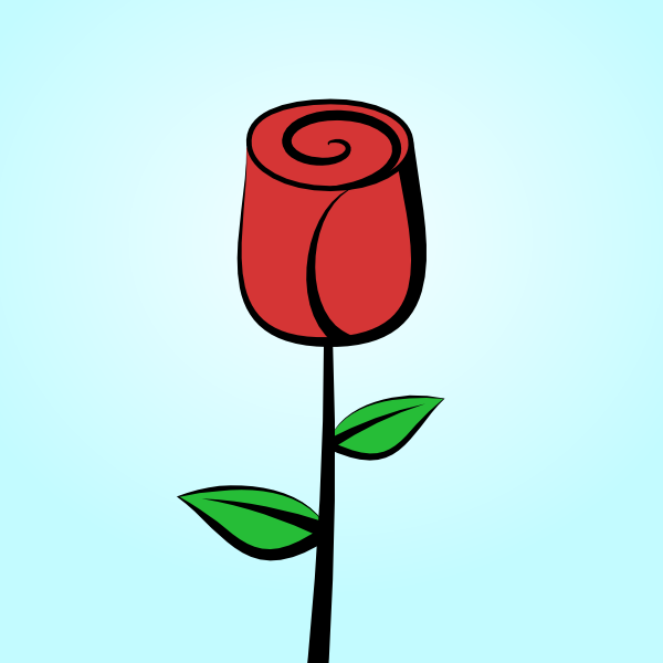 Drawn rose cartoon How GoInkscape! rose to a