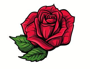 Drawn red rose cartoon Vidéos Photos illustrations rose rose