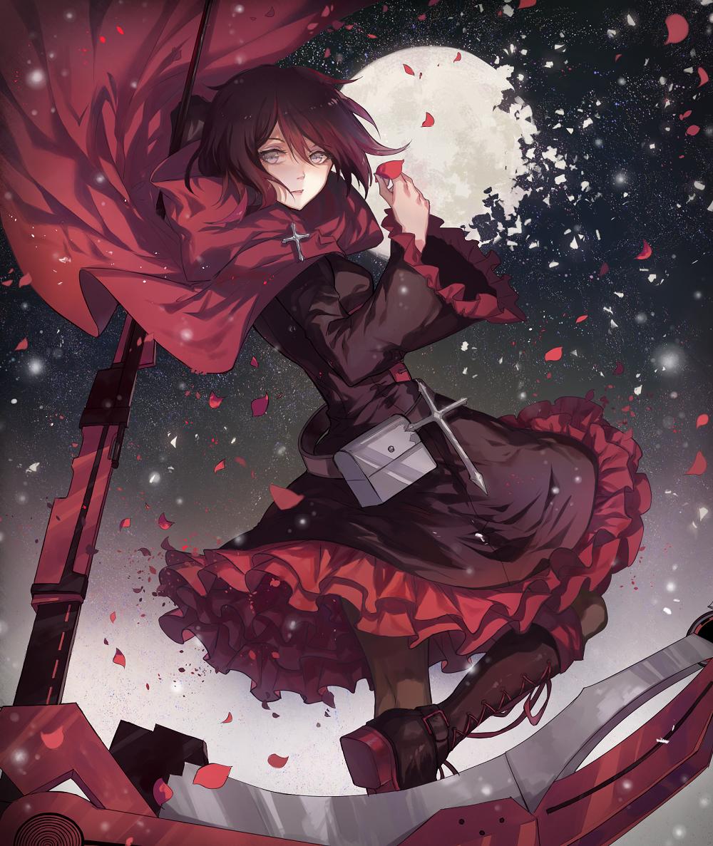 Drawn red rose Kanekiru Night by Red Night
