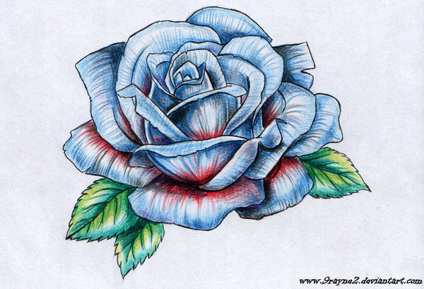 Drawn red rose deviantart 9Rayne2 Explore 20 Lucky978 on