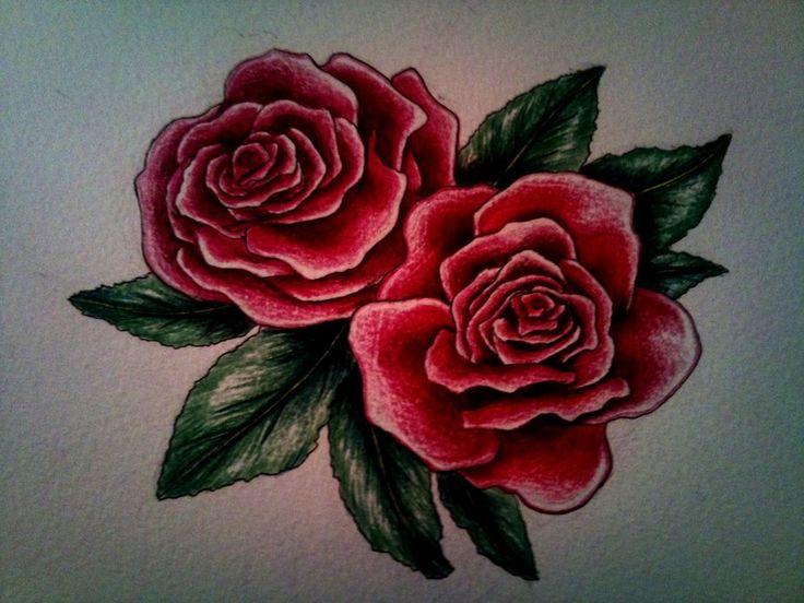 Drawn red rose deviantart Ideas tattoo ~kirstynoelledavies deviantART Rose