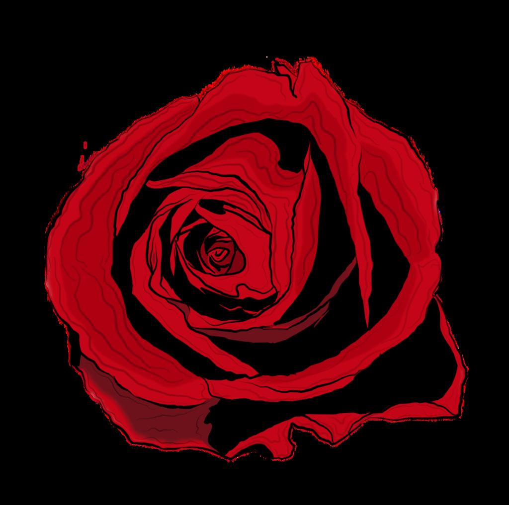 Drawn red rose deviantart Bobhertley drawing by Rose bobhertley