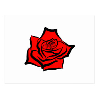 Drawn red rose digital Rose Zazzle Rose Postcard Illustration