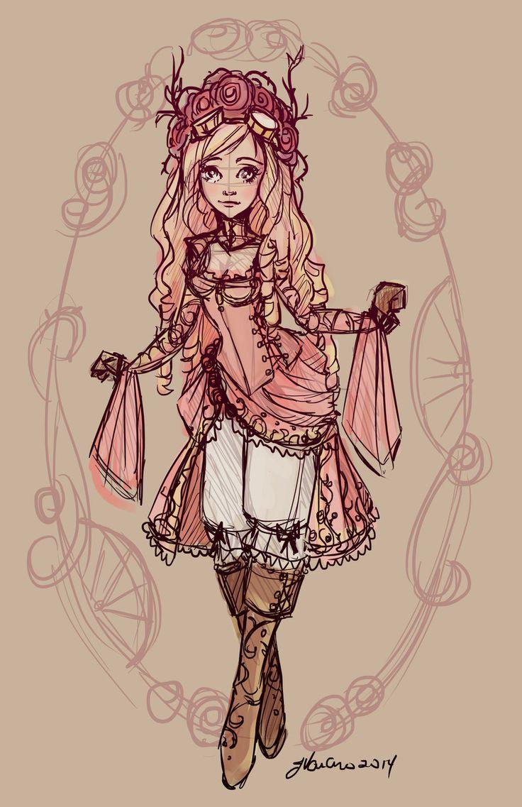 Drawn red rose disney princess Ideas com+on+@ rose Pinterest Briar+Rose+Sketch+by+NoFlutter