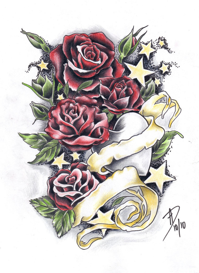 Drawn red rose draw a Red on DeviantArt Roses ladygreytattoo