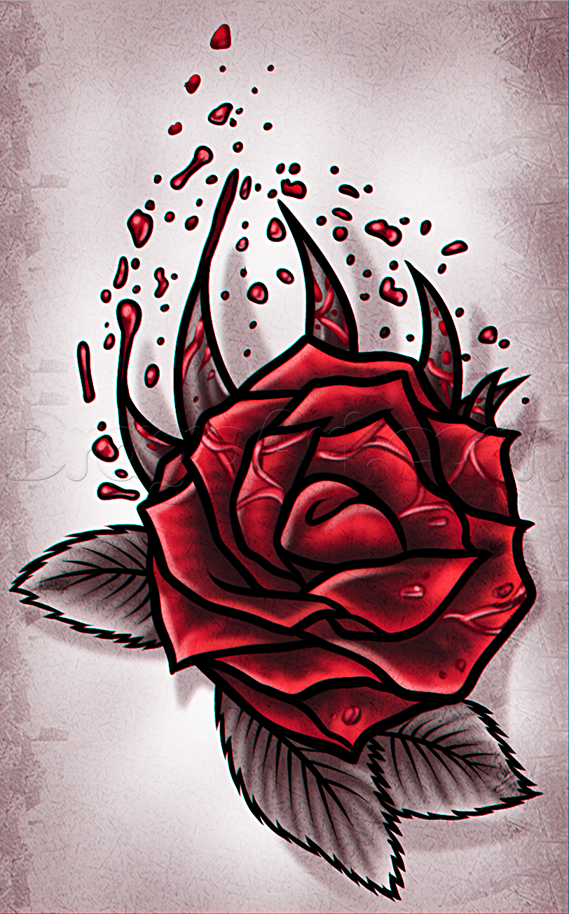 Drawn red rose draw a Free Rose Pop by Tattoos