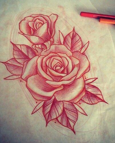 Drawn red rose draw a Rose tattoo 20+ drawing ideas