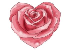 Drawn red rose drawed A Heart Draw to How