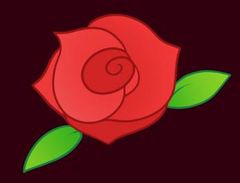 Drawn red rose easy Hellokids kids com draw how