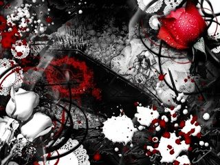Drawn red rose emo Red Emo Download Emo cell