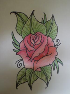 Drawn red rose emo  to realistic Pinterest a