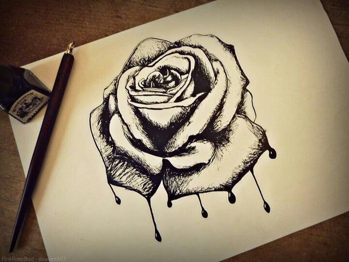 Drawn red rose emo This more and Find Rose
