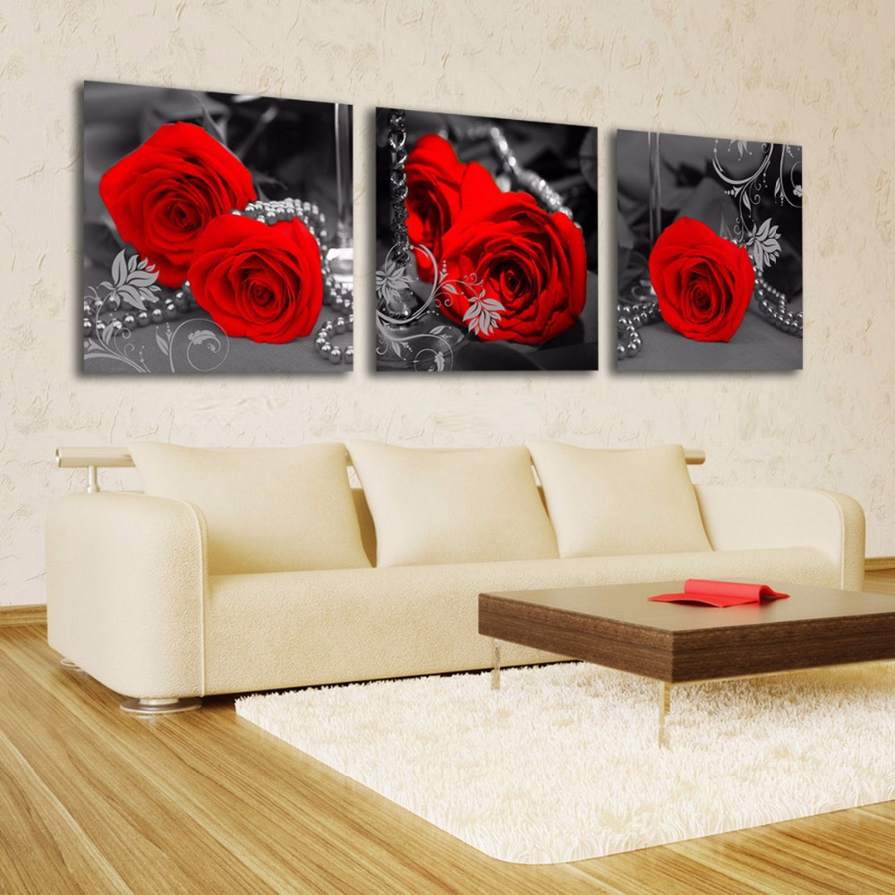 Drawn red rose flower abstract Painting Flower Get Rose Bedroom