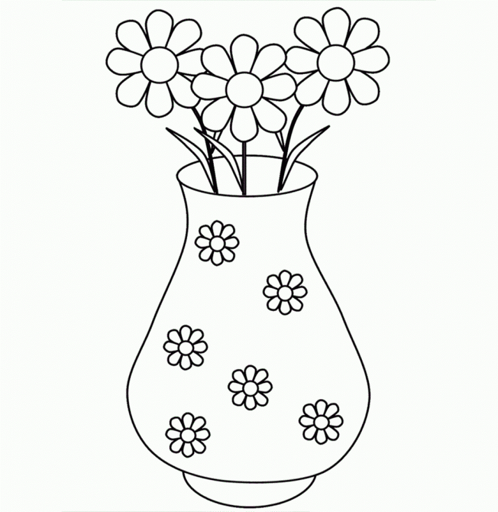 Drawn red rose glass vase Rose Time Glass A Drawing