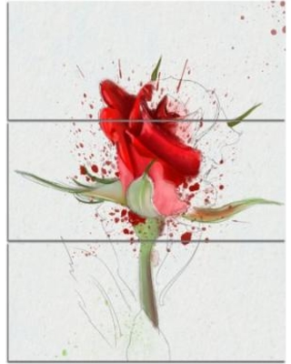 Drawn red rose graphic Deal on 3 on Red
