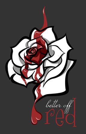 Drawn alice in wonderland rose #1