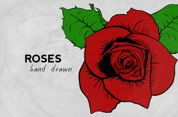 Drawn red rose hand drawn Hand drawn  roses