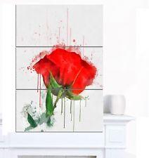 Drawn red rose large 'Red rose Designart drawn Rose