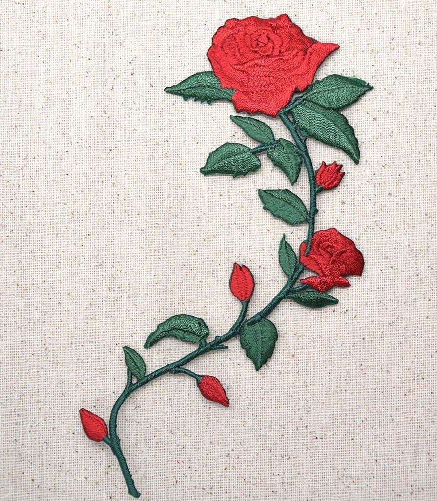 Drawn red rose large Red RIGHT Flowers Large Petals
