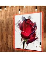 Drawn red rose large MT13491 Extra Designart LED Red