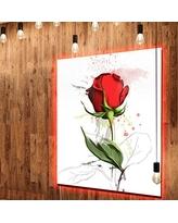 Drawn red rose large MT13513 Extra Designart LED Red