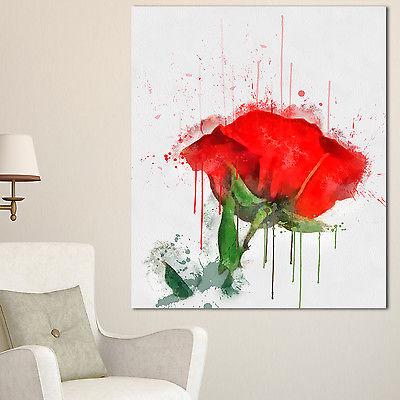 Drawn red rose large 'red Art Designart drawn Painting