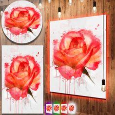 Drawn red rose large 'Red Metal Floral Designart drawn