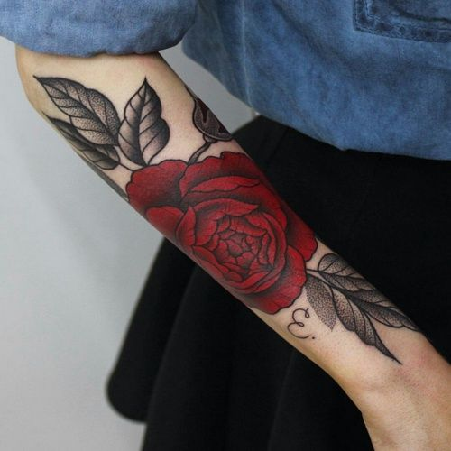 Drawn red rose little red Imagem and de Best tattoos