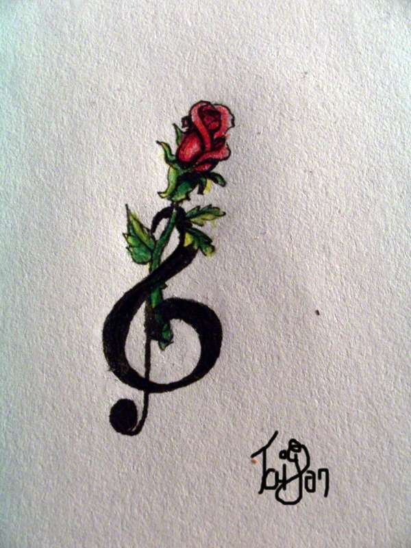 Drawn red rose little red Find more this Tatoo …