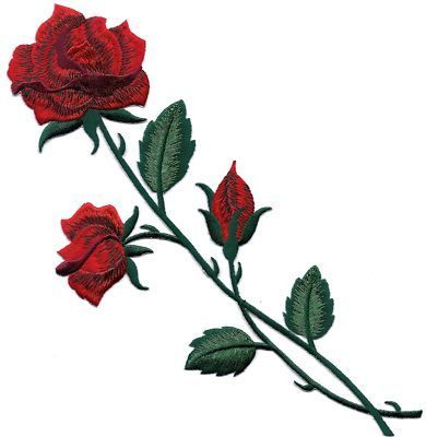 Drawn red rose branch Buds long 25 Pinterest rose