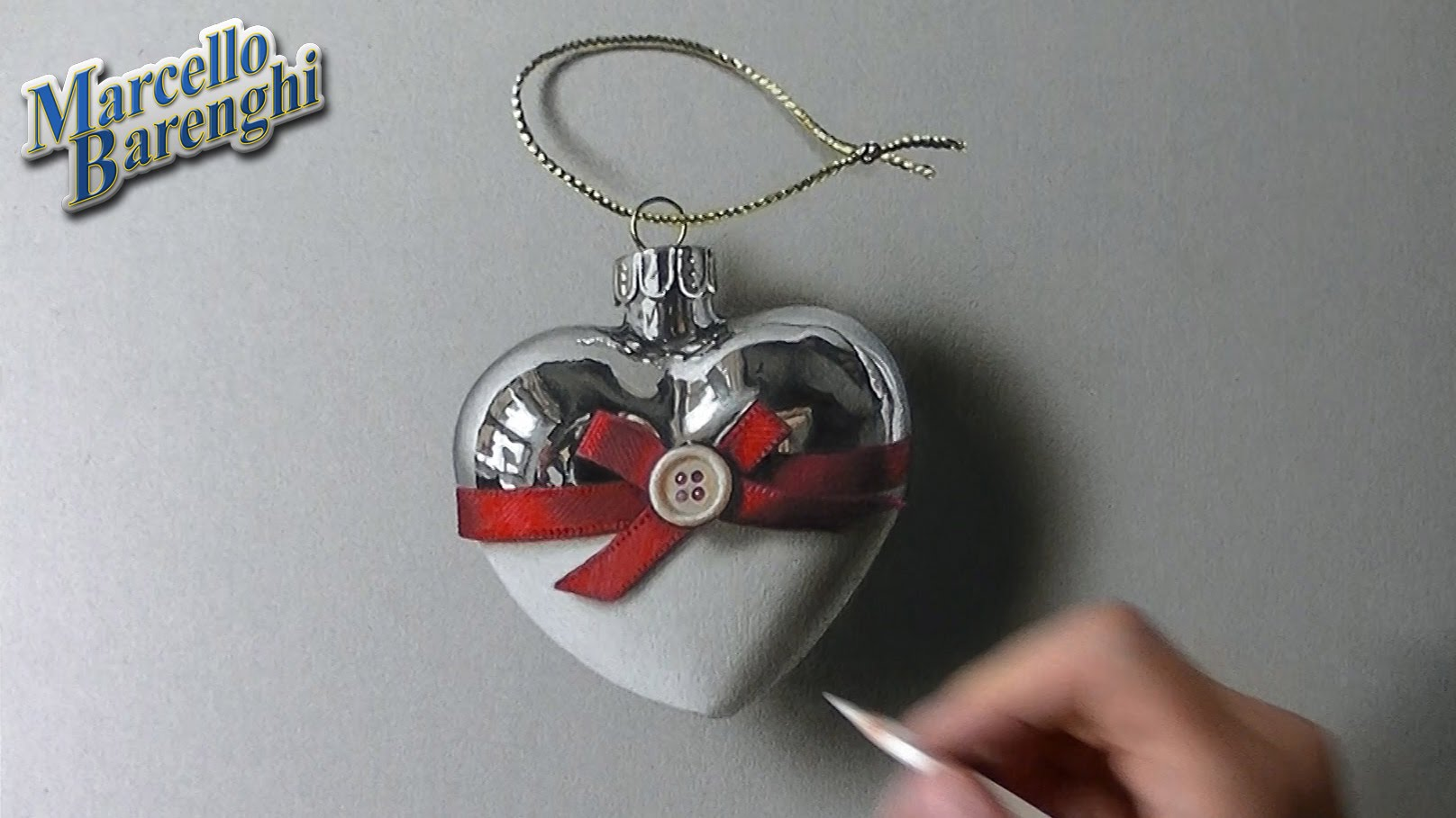 Drawn red rose marcello barenghi Marcello YouTube Heart Bauble Bauble