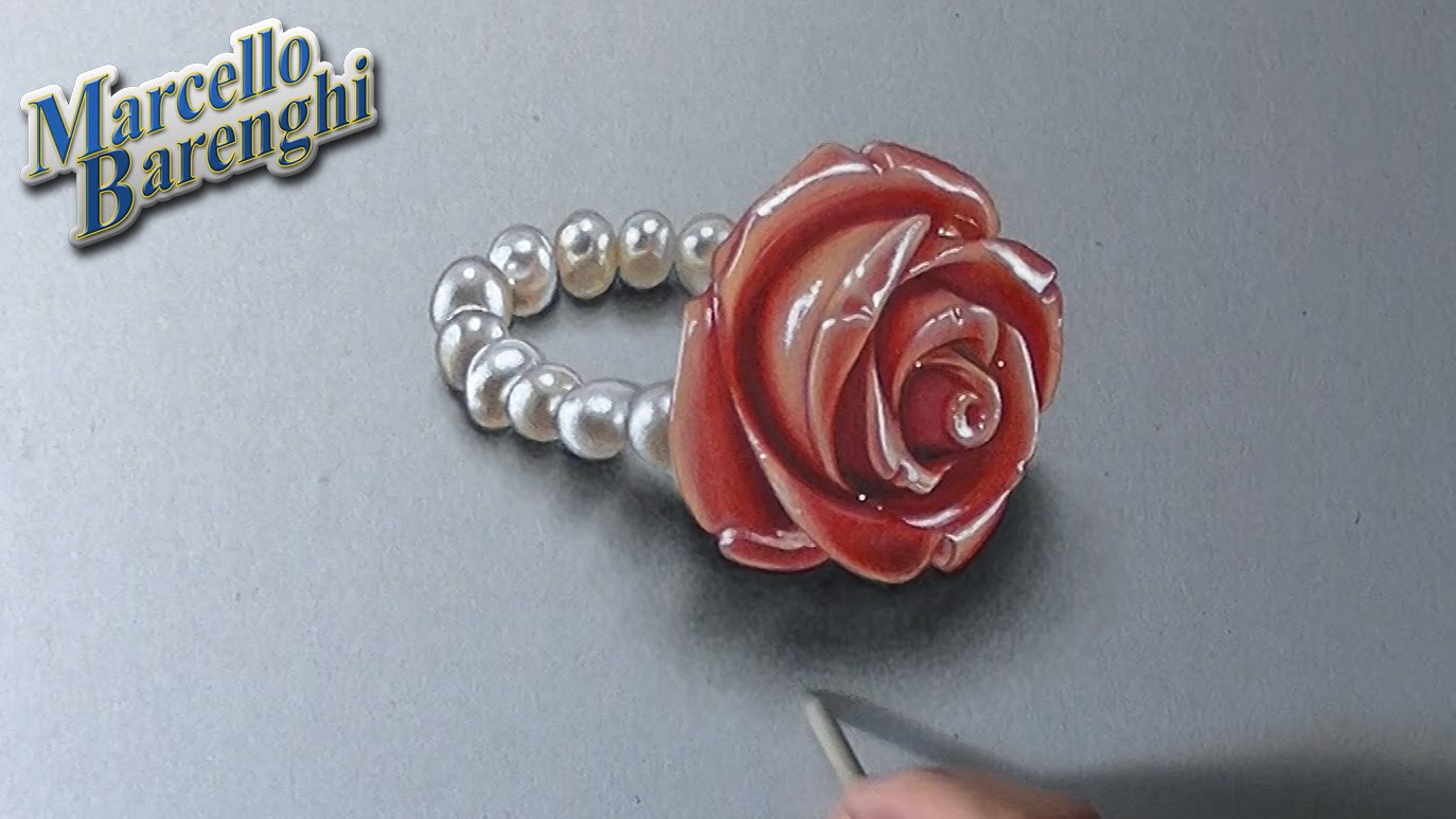 Drawn red rose marcello barenghi Coral and Barenghi draw YouTube