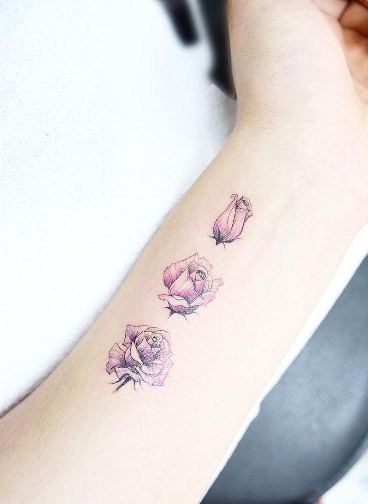 Drawn red rose minimalist The tattoo 25+ rose perfect