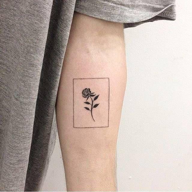 Drawn red rose minimalist On tattoos Pinterest Minimalist see