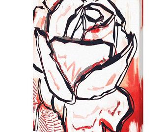 Drawn red rose minimalist Art rose red rose rose
