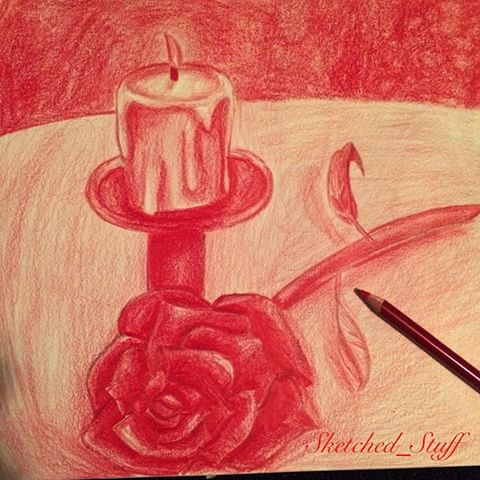 Drawn red rose monochromatic Monochromatic It's on pencil Images