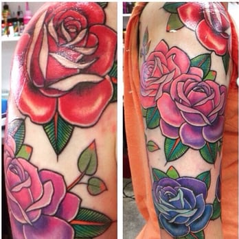 Drawn red rose new york state Of Tattoos 41st  Photo