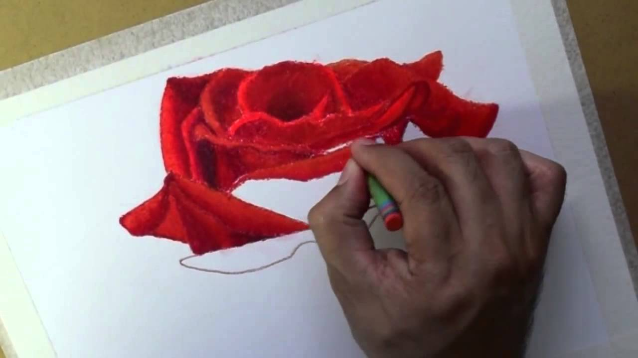 Drawn rose pastel drawing Rosa Dibujar  Flowers Draw