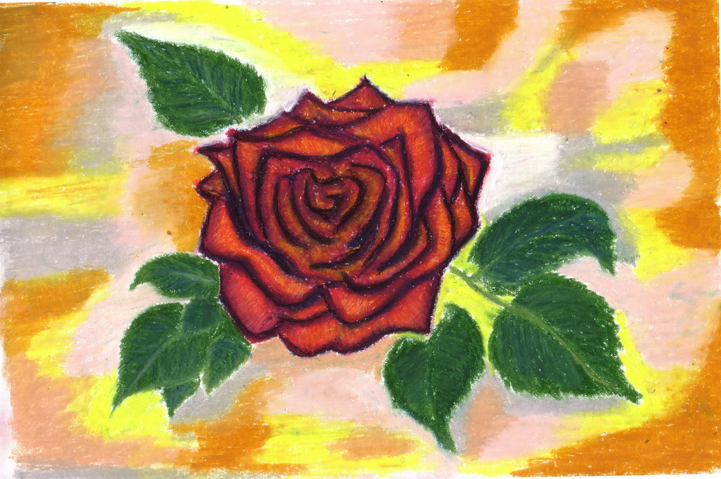 Drawn rose pastel drawing A Pastel Using  Ideas