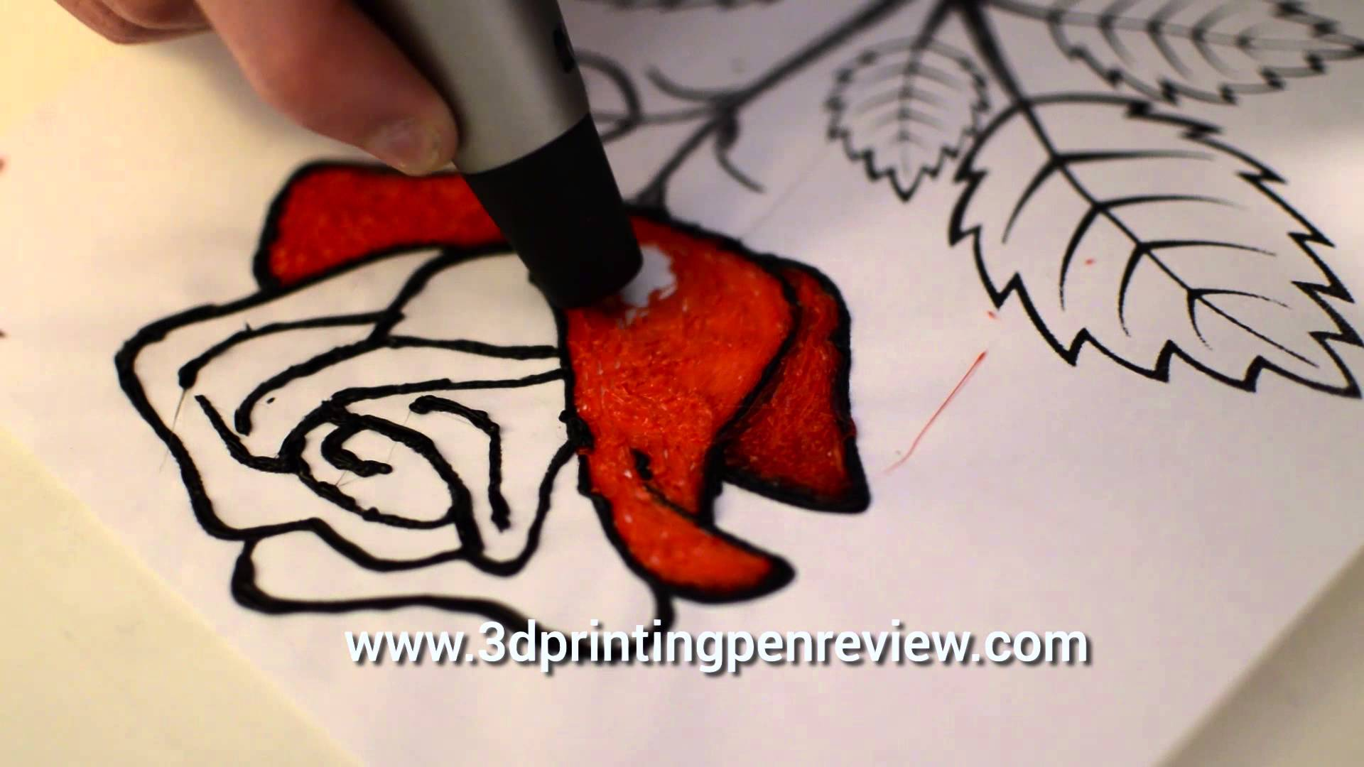 Drawn red rose pen drawing V3 a draw pen draw
