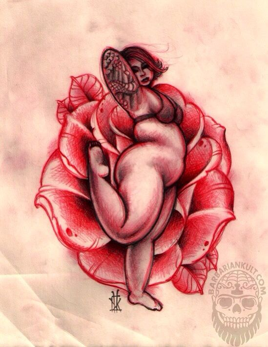 Drawn red rose pink rose Pinterest Woman best Drawing images