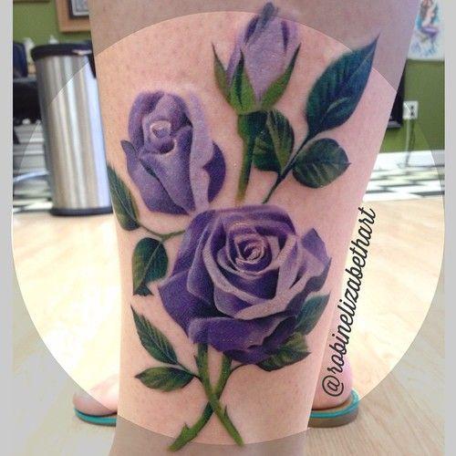 Drawn red rose purple rose Tattoo Rose tattoo 34 images