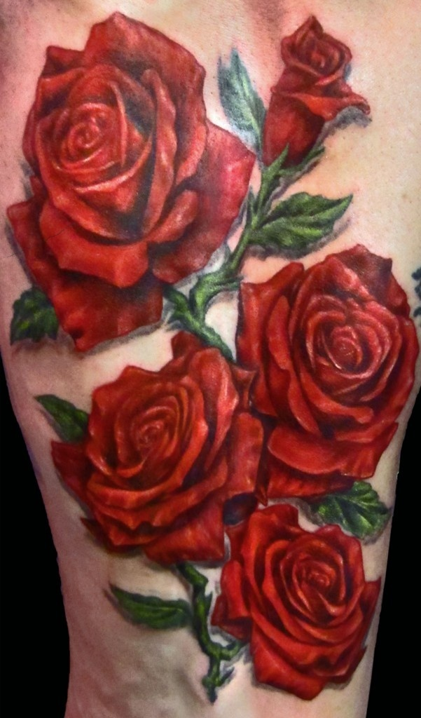 Drawn red rose realistic Realistic Otep images on tattoo