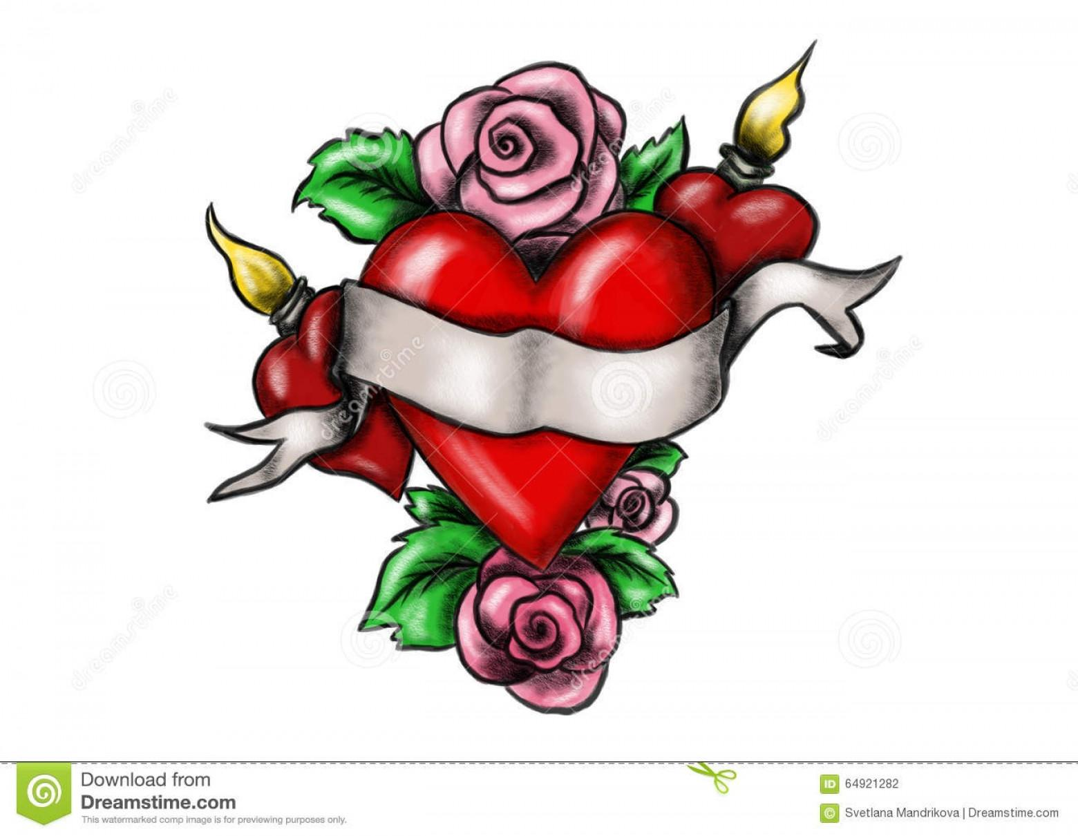 Drawn red rose ribbon drawing Best And With  Cdr