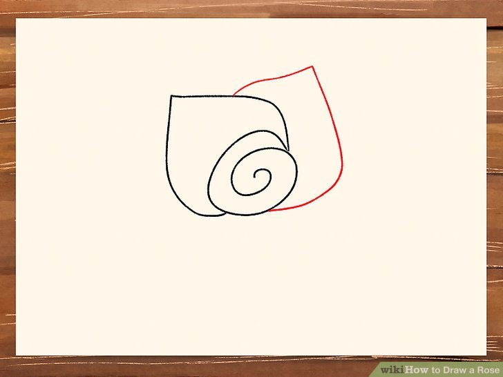 Drawn red rose ribbon drawing Titled 3 Step a Image