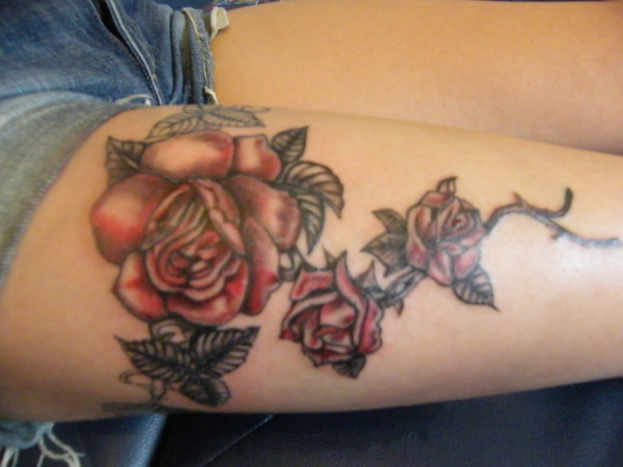Drawn red rose shaded Tattoos by roses ~lozzRC roses